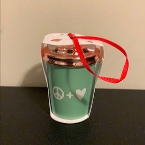 Starbucks Peace +love ornament brand new 2017